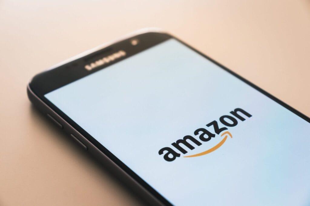 Amazon logo mobile phone