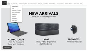 Logitech brand store image Amazon UK