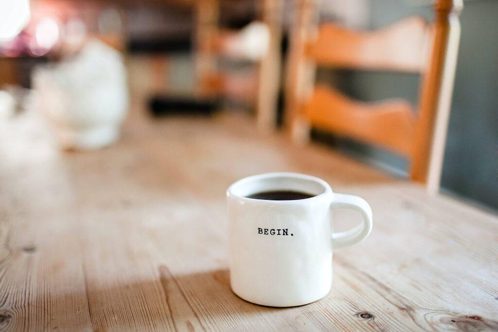 Mug on desk Amazon advertising article